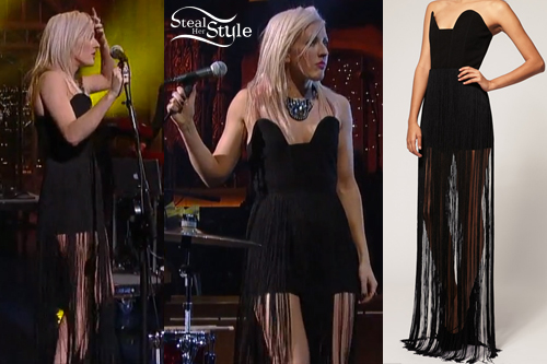 Ellie Goulding David Letterman dress