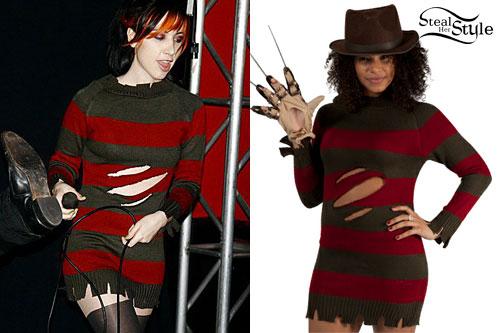 Ash Costello Freddy Krueger Sweater Dress Steal Her Style