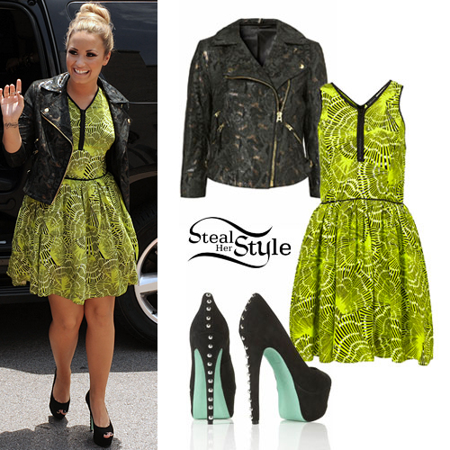 demi lovato xfactor outfit steal her style
