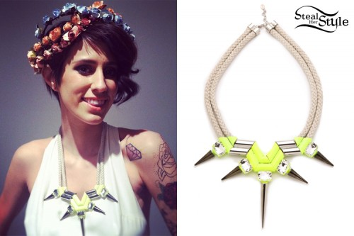 DEV: Neon Spikes Necklace