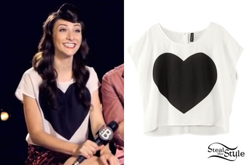 Amy Heidemann H&M Heart Crop Top