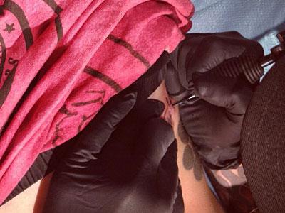 Christina Perri writing tattoo