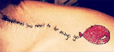 Christina Perri balloon tattoo