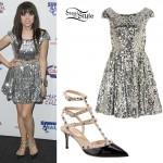 Carly Rae Jepsen: Silver Sequin Dress