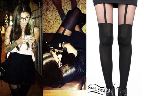 Christina Perri: Suspender Tights