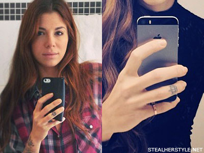 Christina Perri crown finger tattoo