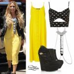 Demi Lovato: Yellow Dress, Body Chain