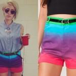 DEV: Purple Ombre Shorts