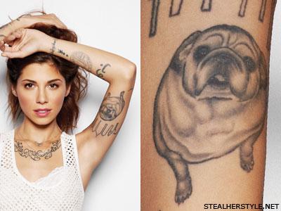 Christina Perri bulldog tattoo