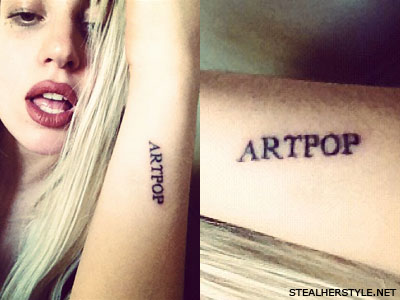 Lady Gaga ARTPOP Tattoo
