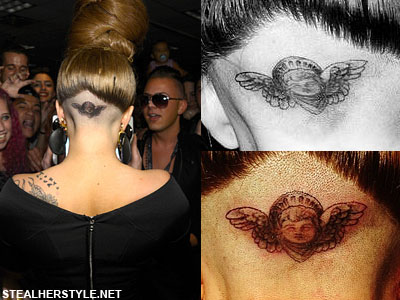 Lady Gaga's cherub head tattoo