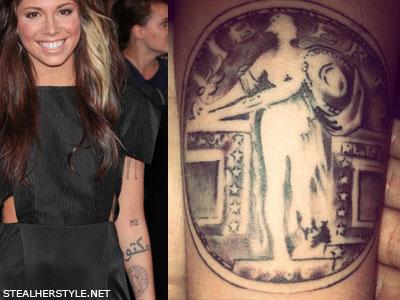 Christina Perri quarter tattoo