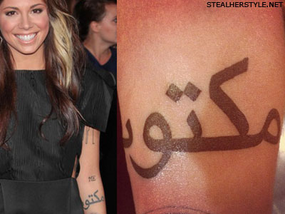 Christina Perri maktub tattoo