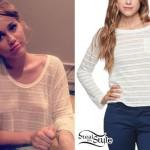Miley Cyrus: Sheer Stripe Top