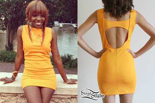 Rye Rye: Orange Shift Dress