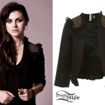 Sierra Kusterbeck: Studded Shoulder Jacket