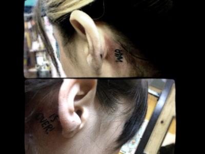 Christina Perri War Is Over tattoo