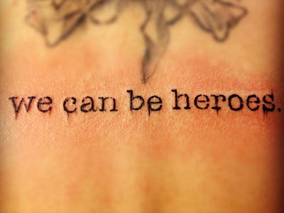 Christina Perri we can be heroes back tattoo