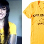 Lights wears the Iowa University T-shirt by Raygun