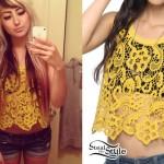 Allison Green: Yellow Crochet Top