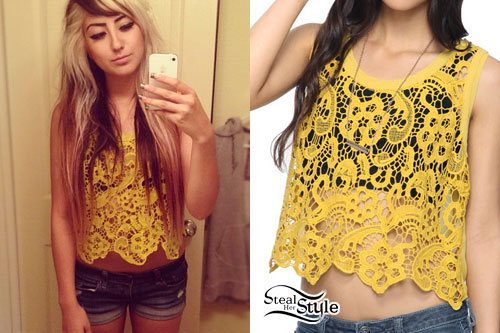 Allison Green: Yellow Crochet Top