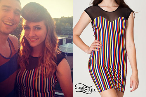 Amy Heidemann: Striped Sweetheart Dress