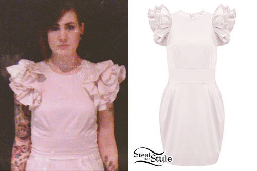 Beth Lucas: FCUK Wendy Ruffle Dress