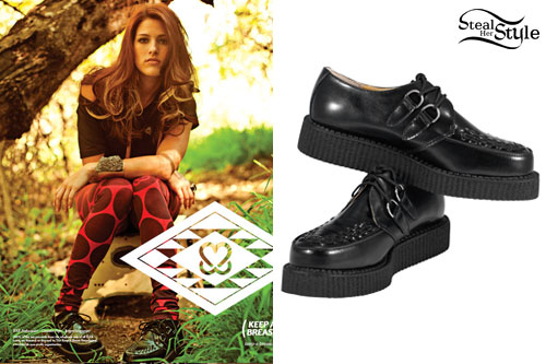 Cassadee Pope: Leather TUK Creepers