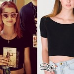 Hayley Williams: Black Cropped T-Shirt