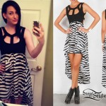 Jacqui Sandell: Zebra High-Low Dress
