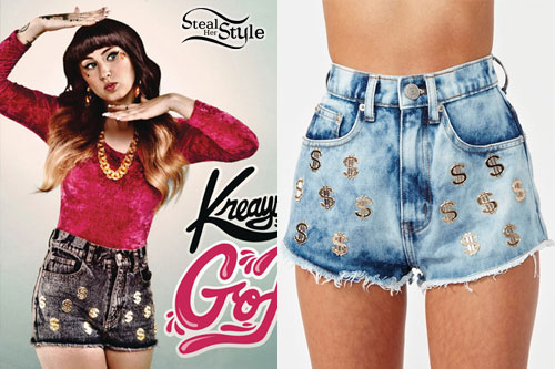 Kreayshawn: Dollar Sign Shorts