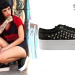 Kreayshawn: Studded Platform Sneakers