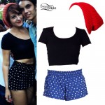 Scout Taylor-Compton: Polka Dot Shorts Outfit