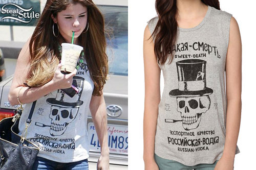 Selena Gomez: Skull Sleeveless Top