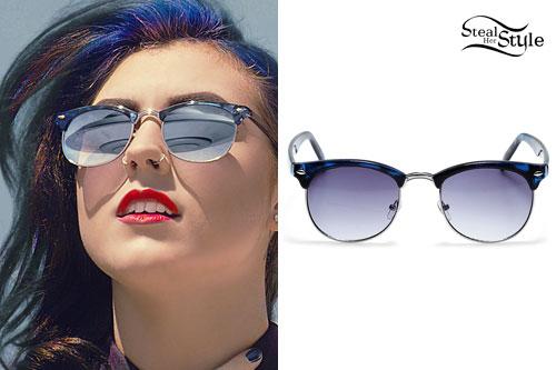 Sierra Kustebeck: Half-Rim Sunglasses