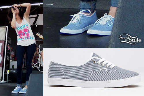Tay Jardine: Striped Vans Sneakers