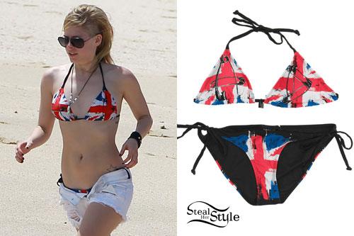 Avril Lavigne: Union Jack Bikini