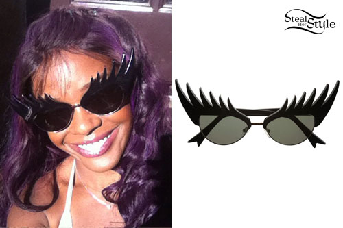 Azealia Banks: Eyelash Sunglasses