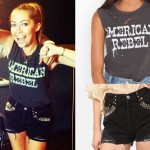 Brandi Cyrus: Studded Shorts, American Rebel Tee