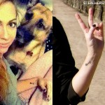 Brandi Cyrus music note tattoo