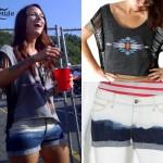 Cassadee Pope: Ombre Denim Shorts