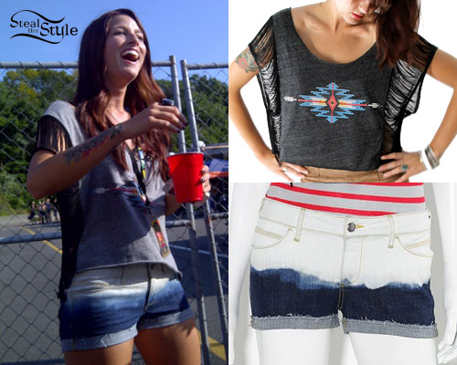 Cassadee Pope: Ombre Denim Shorts