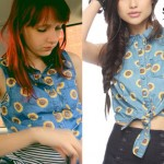Christie DuPree: Denim Sunflower Top
