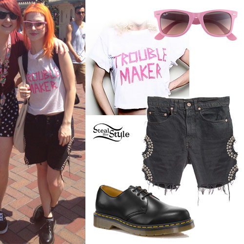 Hayley Williams: Studded Cutout Shorts