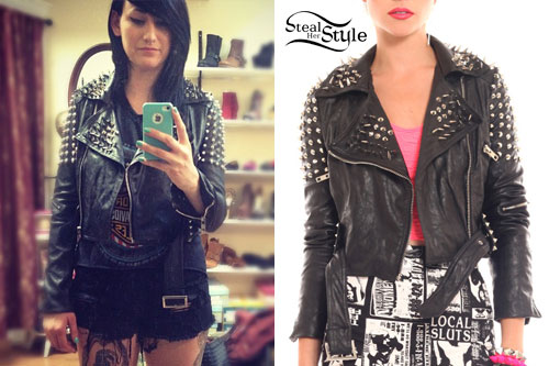 Jacqui Sandell: Studded Leather Jacket