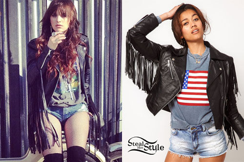 Juliet Simms: Fringed Leather Jacket