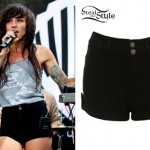 LIGHTS: Black Denim Shorts
