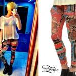 Miley Cyrus: Printed Leggings
