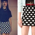 Natalia Kills: Polka Dot Mini Skirt