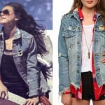 Sierra Kusterbeck: Ripped Denim Jacket